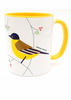 Wagtail bird of Israel 'Flights of Fancy' yellow coffee Mug | Barbara Shaw Jewish Gifts