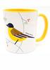 Wagtail bird of Israel 'Flights of Fancy' yellow coffee Mug | Barbara Shaw Jewish Gifts