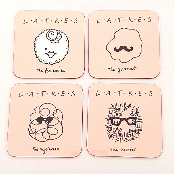 Coasters set of 4 - Hanukkah Latkes