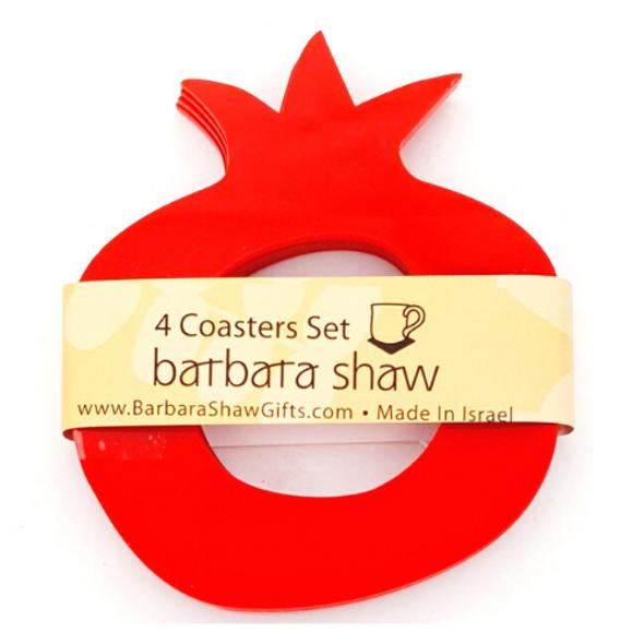 Pomegranate Napkin Ring or Coasters Set of 4