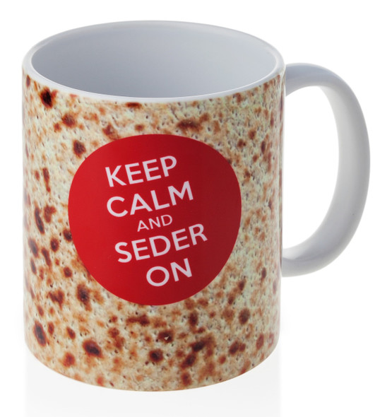 Barbara Shaw Keep Calm and Seder On Passover funny jewish coffee Mug