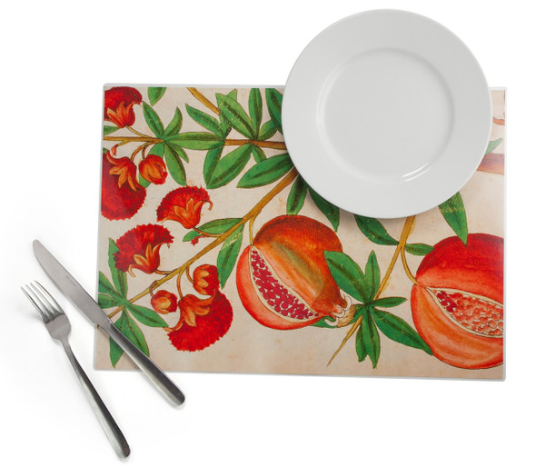 Pomegranate plastic Placemat set of 4