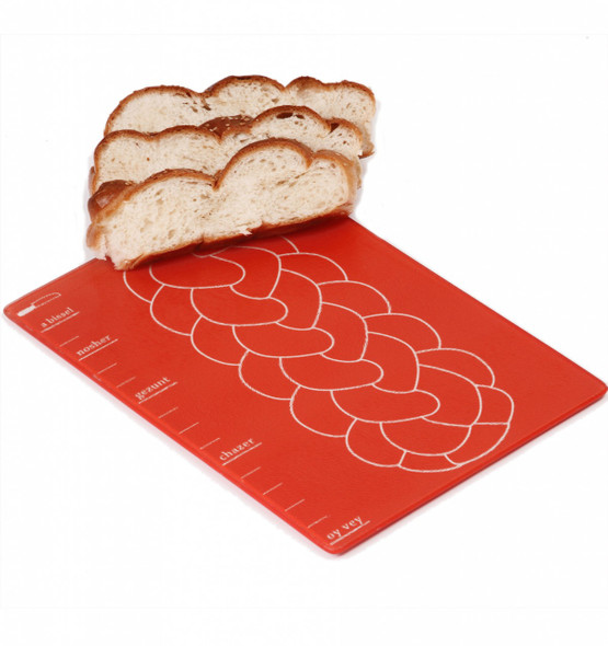 Yiddishism Glass challah Cutting Board