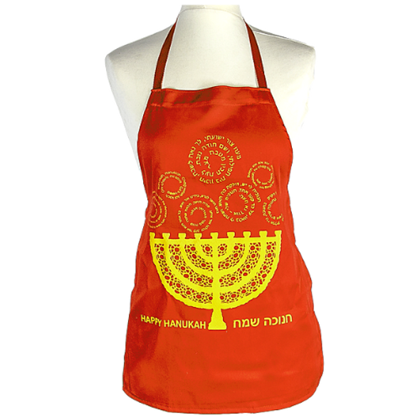 Children's Hanukkah Menorah apron