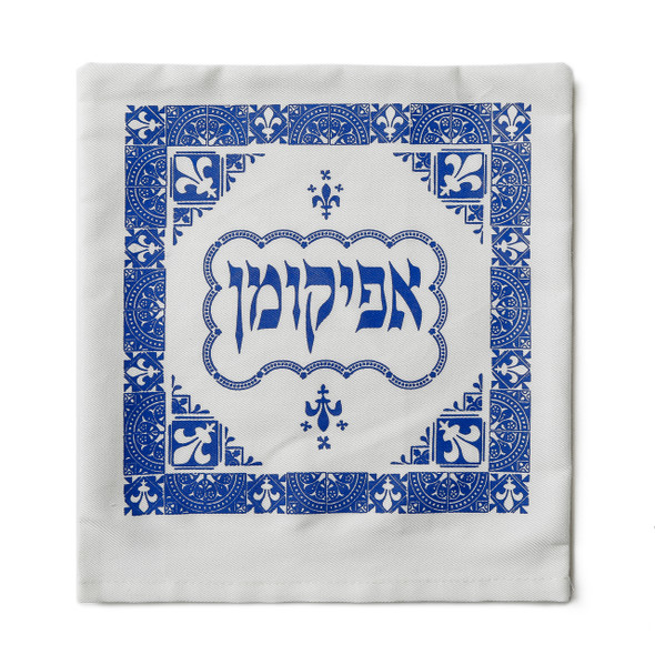 Barbara Shaw French Fleur-de-lis Ancient Tile Passover afikoman bag