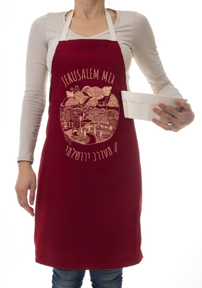 Jewish Apron- unique Jerusalem Mix Israeli design