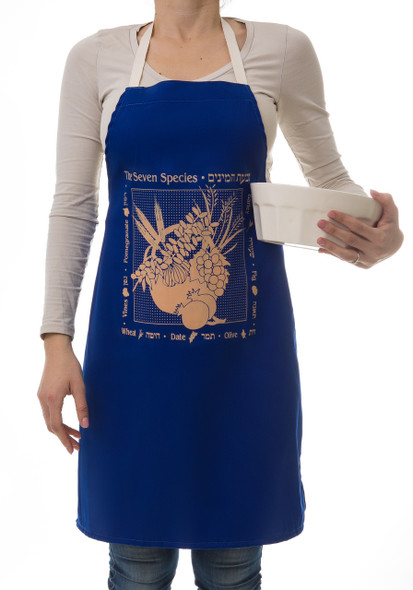 Jewish Apron- Seven Species of Israel | Barbara Shaw Gifts