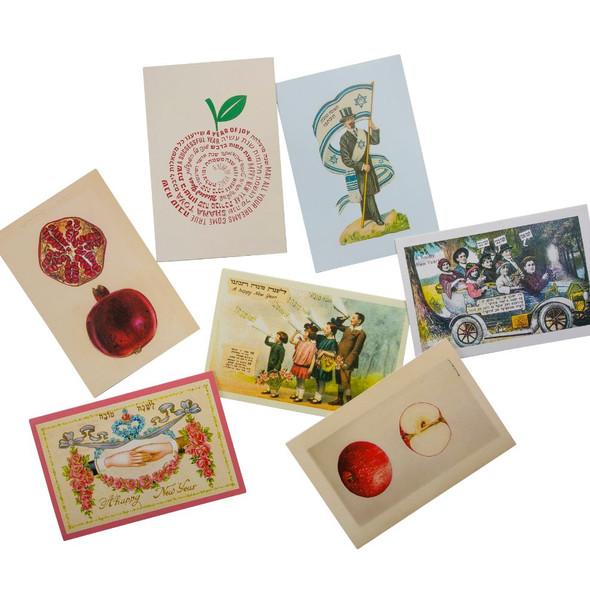 Rosh Hashanah Jewish New Year Greeting Cards Set of 7