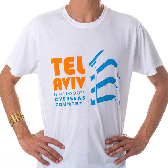 Tel Aviv design white T-Shirt