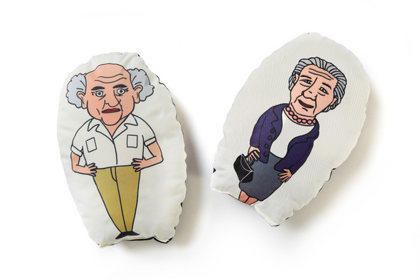 Ben Gurion and Golda Cushion Set