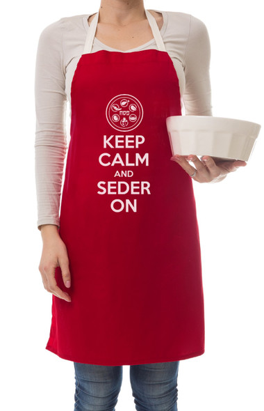 Keep Calm and Seder on Apron Passover Apron for seder eve