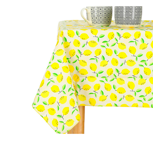 Lemon design Easy Wipe summer table cloth