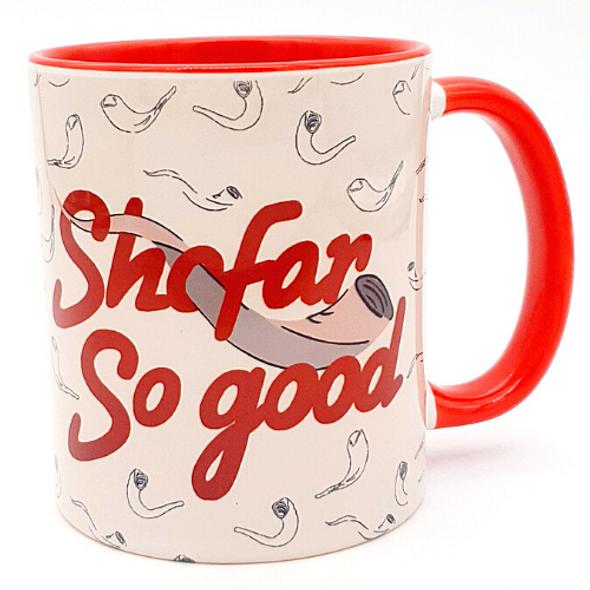 Shofar So Good Rosh Hashanah coffee Mug   Barbara Shaw Gifts