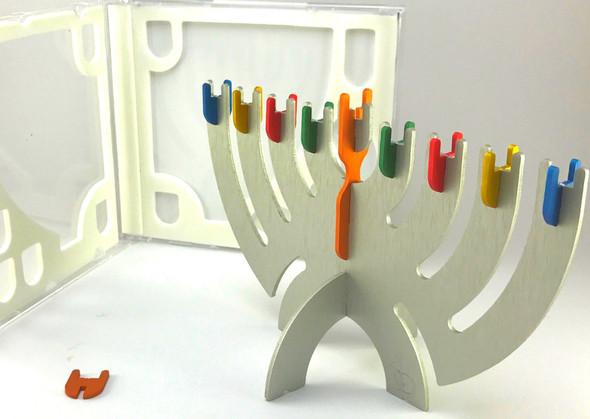 Cool Hanukkah Compact Disk Menorah rainbow