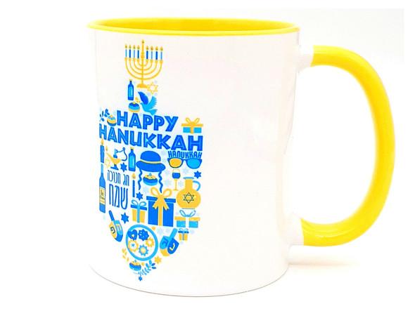 Hanukkah Gifts Dreidel Coffee Mug