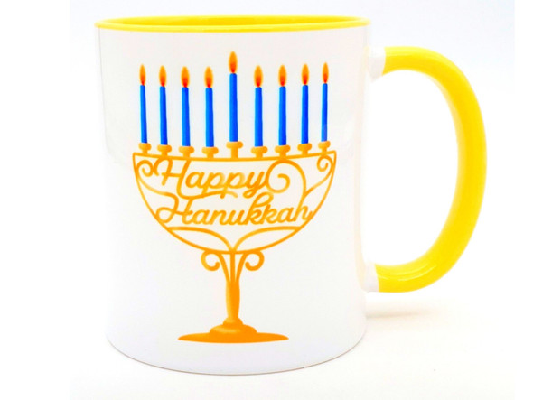 Happy Hanukkah Menorah coffee mug