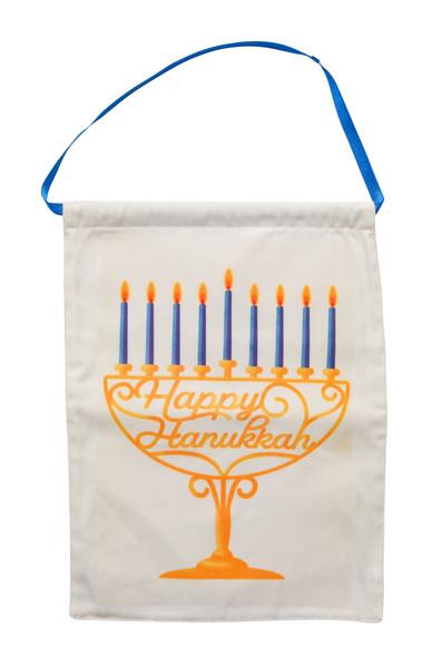 Unique cotton Hanukkah wall Hanger with satin ribbon beautiful Hanukkah décor