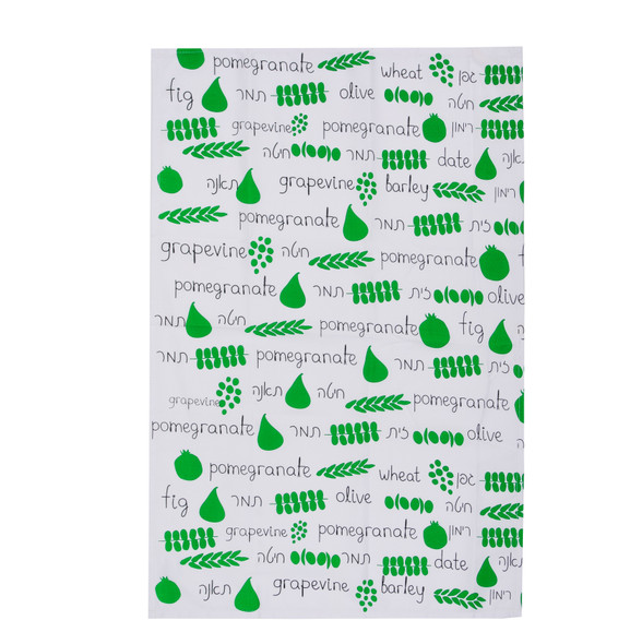 Israeli Fruits of the land Seven Species Dish Towel