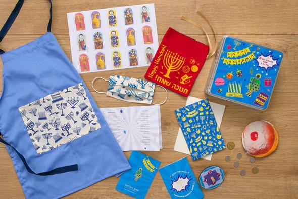 Eight De-lights for eight days fun Hanukkah themed gift box for kids
