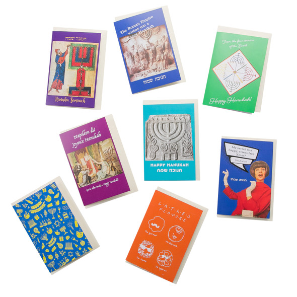 Beautiful Hanukkah greeting cards set of 8