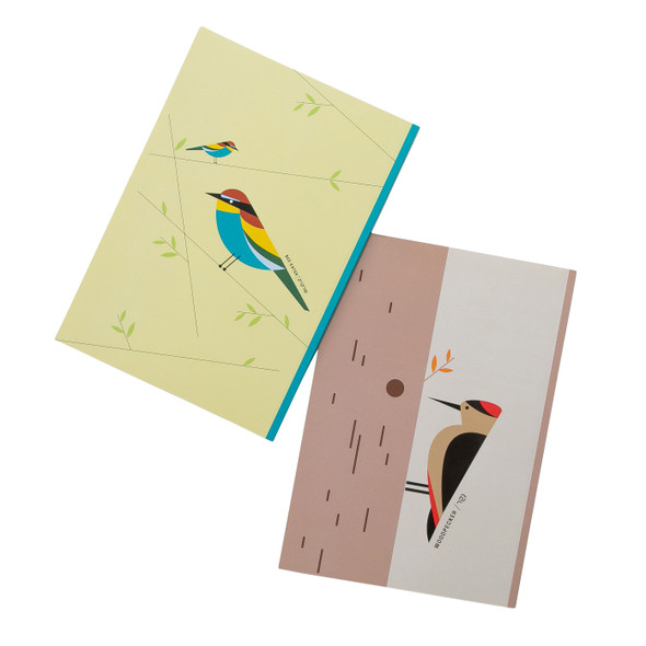 Birds of Israel colorful lined note book set of 4