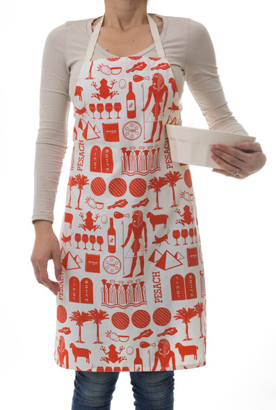 Pharaoh Print 'Icons of Passover' Apron