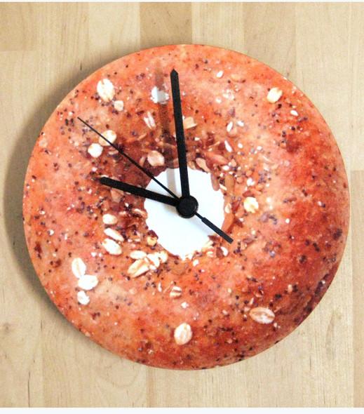 Bagel-design Wall Clock