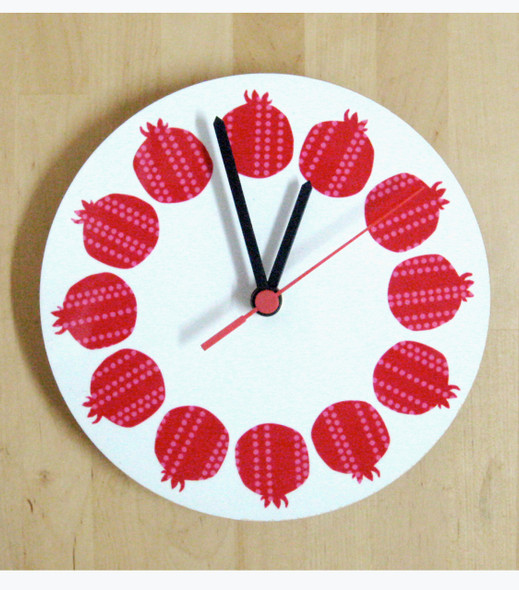 Retro Pomegranates art wall Clock