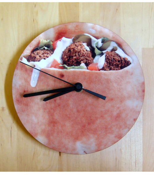 Felafel design cool wall Clock