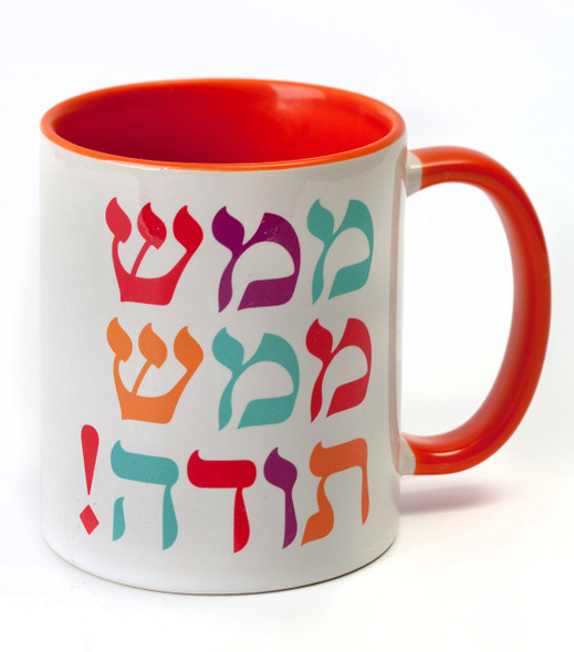 Thank You Thank you in Hebrew great gratitude Mug - Barbara Shaw Jewish Gifts