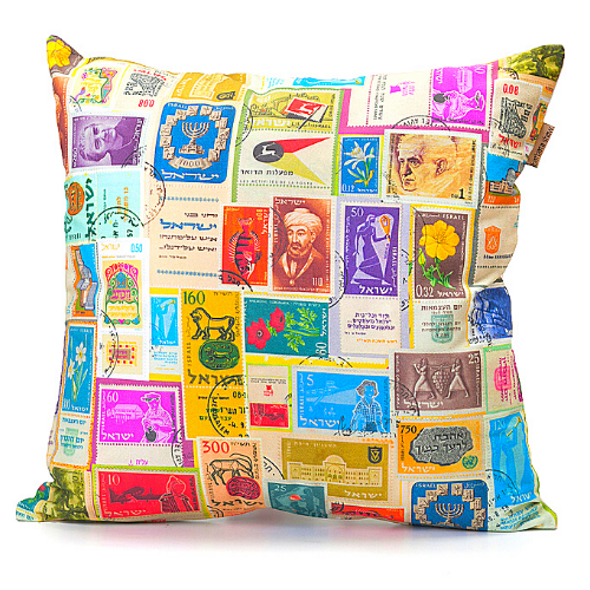 Israeli Stamps Cushion