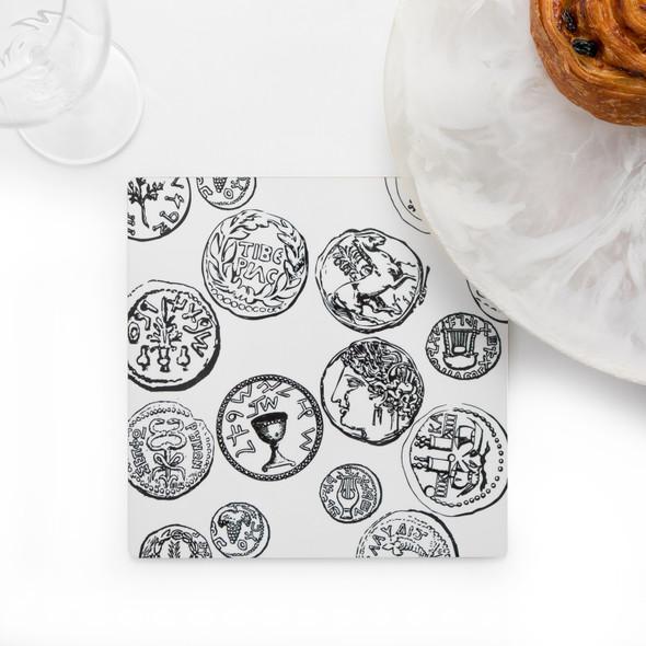 Kitchen Trivet - Ancient Coins of Israel unique design