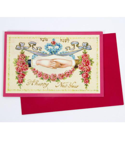 """""""Happy New Year/Rosh Hashana"""" Greeting Card (red)"""