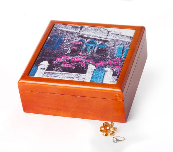 Jerusalem House Collection - Jewelry Box - Blue