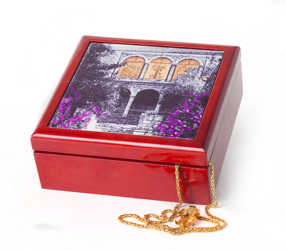 Jerusalem House Collection - Jewelry Box - Orange