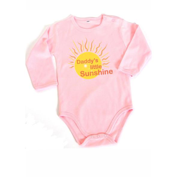"""""""Daddy's Little Sunshine"""" Baby Pure Cotton Onesie"""