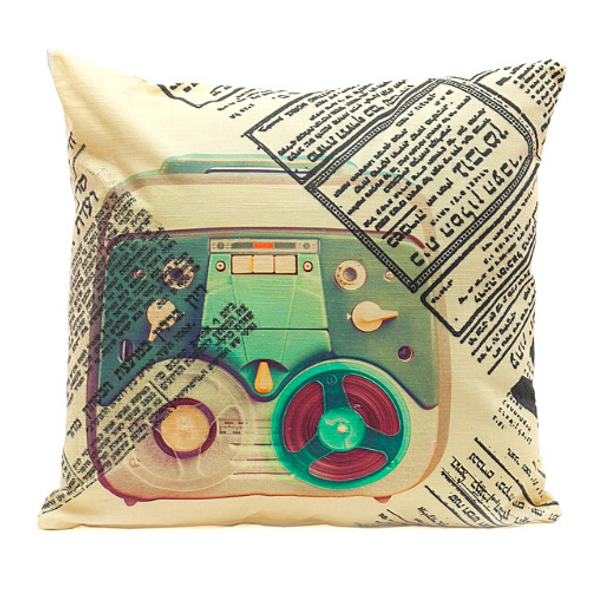 Retro Teal Tel-Aviv - Cushion
