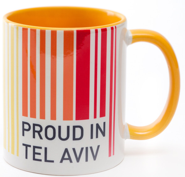 Israeli Mug - Proud In Tel-Aviv coffee mug | Barbara Shaw Jewish Gifts