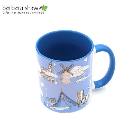 Jerusalem Sites Coffee Mug (light blue)