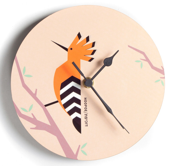 Hoopoe 'Flights of Fancy' wall Clock