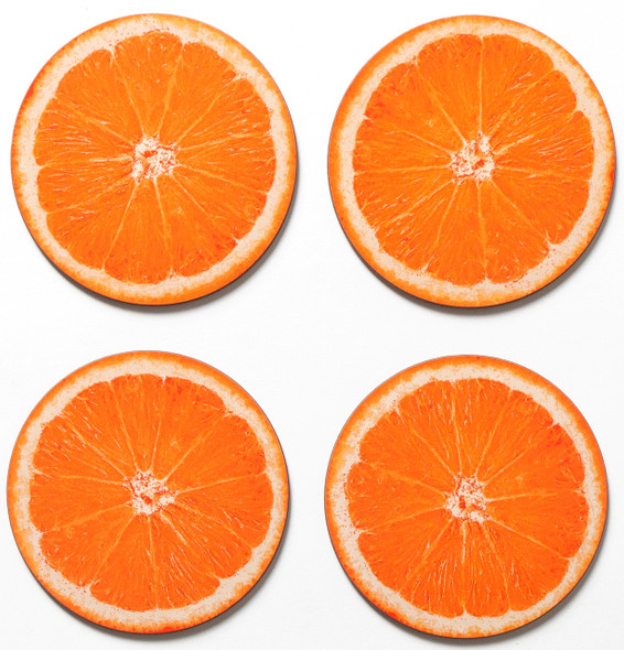 Coasters set of 4 - Orange Slice of Israel