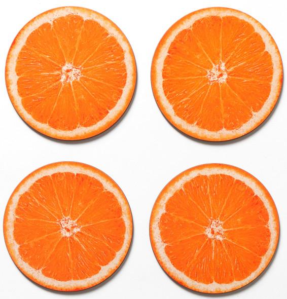 Coasters set of 4 - Orange Slice of Israel