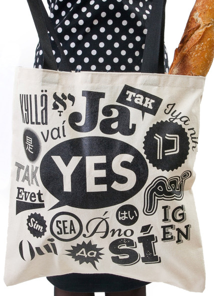 Say Yes Canvas Tote Bag