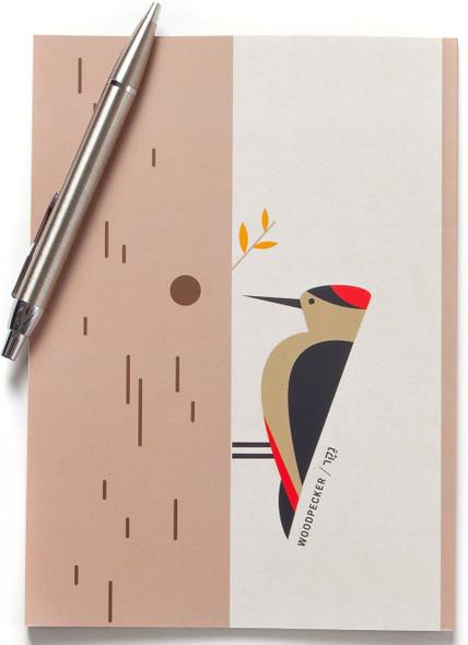 Woodpecker Bird Lined Notebook