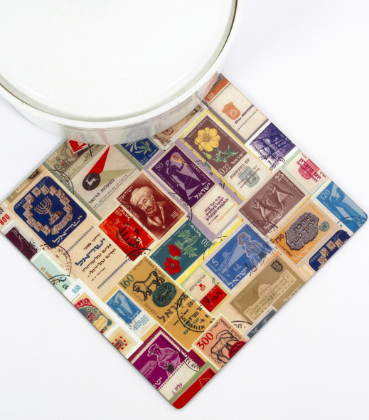 Kitchen Trivet - Israeli Stamps design