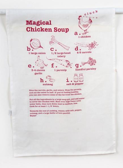 Chicken Soup Recipe Dish Towel