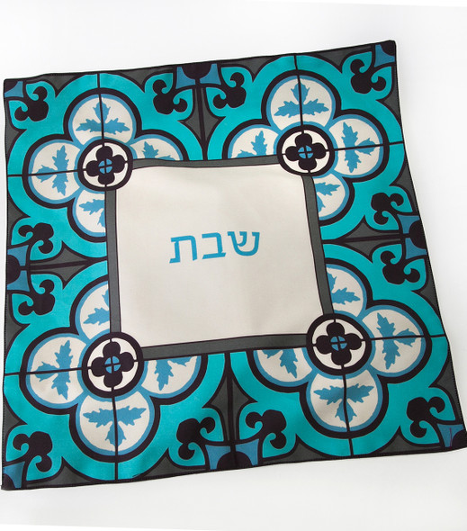 Challah Cover - Ottoman Flower Tile design