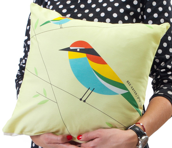 Cushion - 'Flights of Fancy' Bee Eater Bird
