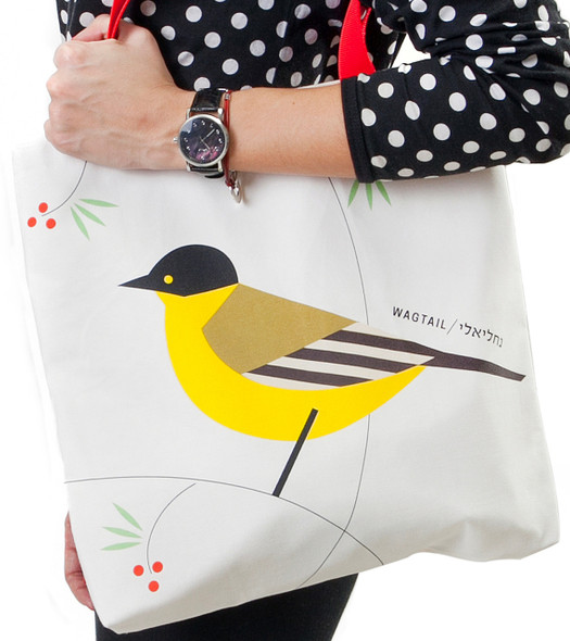 Canvas Tote Bag - 'Flights of Fancy' Wagtail Bird