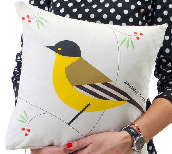 Cushion - 'Flights of Fancy' Wagtail Bird